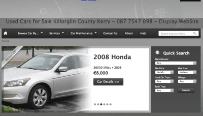 Tools Car Sales and Car Parts in Kerry Website Design in Ireland