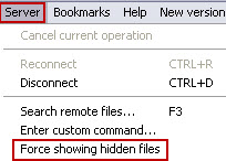 Force Showing Hidden Files in Ireland