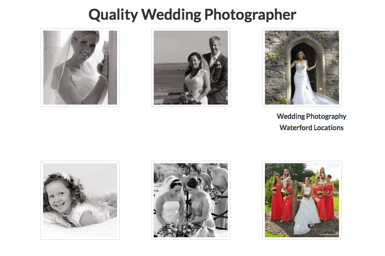 Quality Wedding Photographer in Waterford
