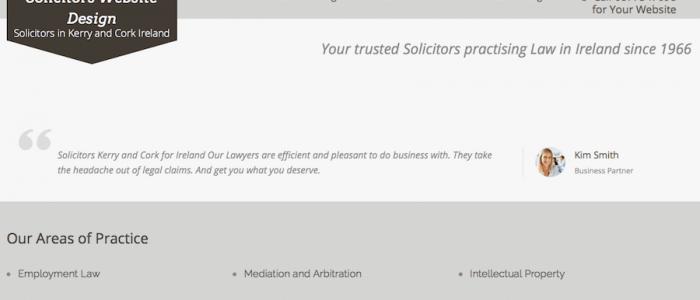 Solicitors Website Design in Ureland