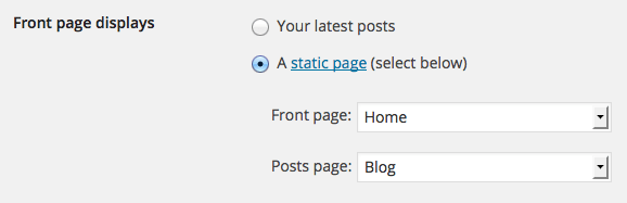 Ideal Setting for WordPress to display frontpage in Ireland