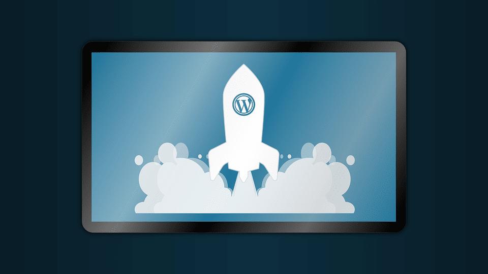 Pinguis wordpress marketing rocket tablet background